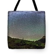 Milky Way Over Red Rock Canyon Tote Bag