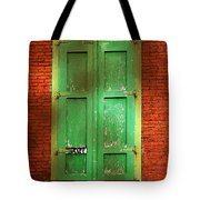 Mill Door In Dappled Sunlight Tote Bag