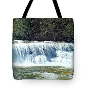 Mill Shoals Waterfall During Flood Stage Tote Bag