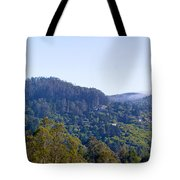 Mill Valley Ca Hills With Fog Coming In Left Panel Tote Bag