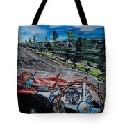 Mille Miglia On Board With Peter Collins Tote Bag