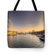 Millenium Wheel Dusk  Tote Bag