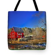 Historic Millmore Mill Shoulder Bone Creek Tote Bag