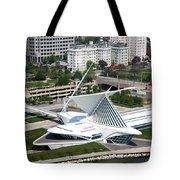 Milwaukee Art Museum Aerial Tote Bag