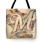 Milwaukee Brewers Poster Art Tote Bag