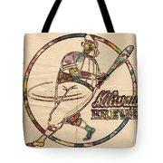 Milwaukee Brewers Vintage Art Tote Bag