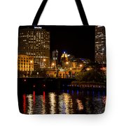 Milwaukee River And Downtown Skyline Tote Bag