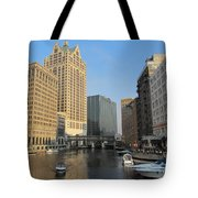 Milwaukee River Theater District 2 Tote Bag