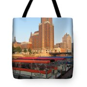 Milwaukee River Theater District 5 Tote Bag