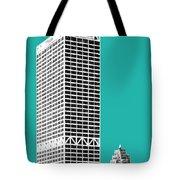 Milwaukee Skyline 1 - Teal Tote Bag