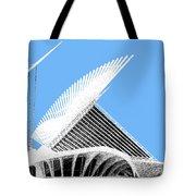 Milwaukee Skyline Art Museum - Light Blue Tote Bag