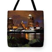 Milwaukee Skyline At Dusk Tote Bag