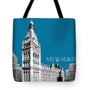 Milwaukee Skyline City Hall - Steel Tote Bag