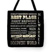 Milwaukee Wisconsin Famous Landmarks Tote Bag