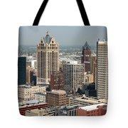 Milwaukee Wisconsin Skyline Aerial Tote Bag
