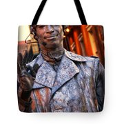 Mime In Silver On Bourbon St. Tote Bag