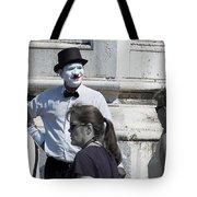 Mime In Venice Tote Bag