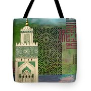 Minaret Of Hassan 2 Mosque Tote Bag