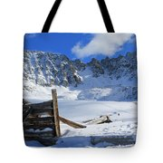 Mine Relics In The Snow Tote Bag