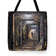Mine Shaft Mural Tote Bag