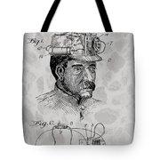 Miner's Lamp Patent Tote Bag