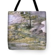 Minerva Springs Terraces Yellowstone National Park Tote Bag