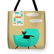 Mini Abstract With Aqua Chair Tote Bag