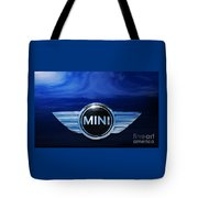 Mini Blue Tote Bag