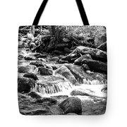 Mini Cascades Smoky Mountains Bw Tote Bag