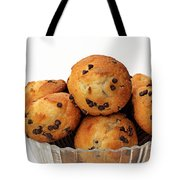 Mini Chocolate Chip Muffins And Milk - Bakery - Snack - Dairy - 3 Tote Bag