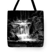 Mini Falls Black And White Tote Bag