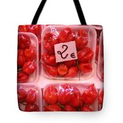 Mini Red Peppers Tote Bag