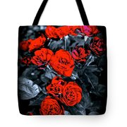 Mini Roses On Walk Tote Bag