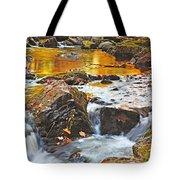 Mini Waterfall In The Porkies Tote Bag