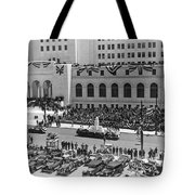 Miniature La City Hall Parade Tote Bag