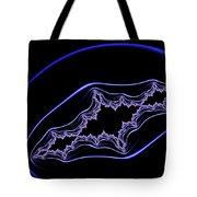 Minimalist Fractal Design Purple Blue Black Tote Bag