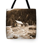 Mining House In Black And White Tote Bag