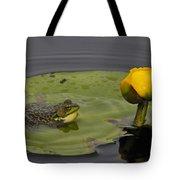 Mink Frog On Lilypad  Tote Bag