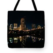 Minneapolis Night Skyline Tote Bag