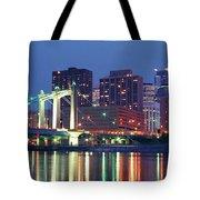 Minneapolis Skyline At Night Tote Bag