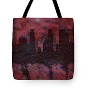 Minneapolis Skyline Brick Wall Mural Tote Bag