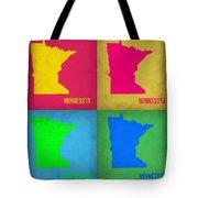Minnesota Pop Art Map 1  Tote Bag