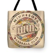 Minnesota Twins Logo Vintage Tote Bag