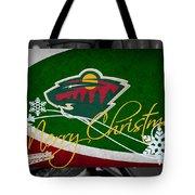 Minnesota Wild Christmas Tote Bag
