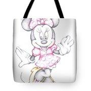 Minnie Mouse Disney Cartoon Colour Pencil Drawing Acrylic Print By