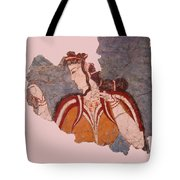 Minoan Wall Painting Tote Bag