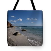 Binigaus Beach In South Coast Of Minorca With A Turquoise Crystalline Water - Paradise In Blue Tote Bag