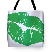 Mint Green Kiss Tote Bag