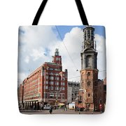 Mint Tower In Amsterdam Tote Bag