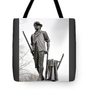 Minute Man Statue Tote Bag